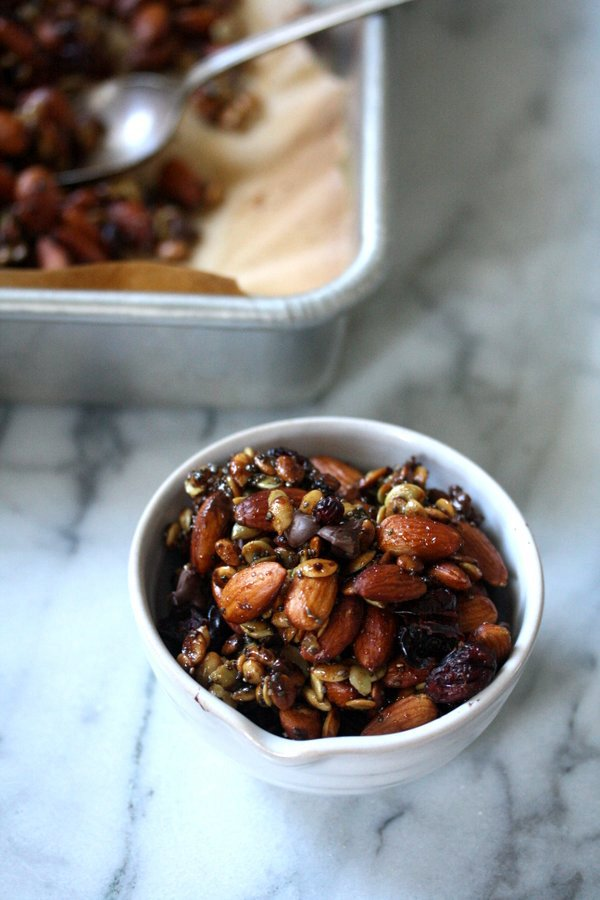 Super Seedy Trail Mix with Almonds, Chia, and Cranberries
