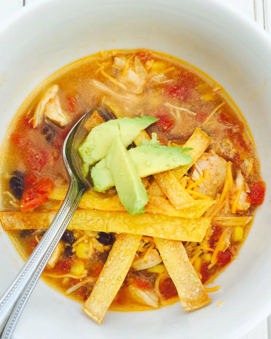 Instant Pot Chicken Tortilla Soup {21 Day Fix}