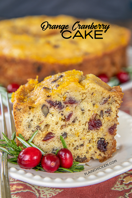 Orange Cranberry Cake Recipe