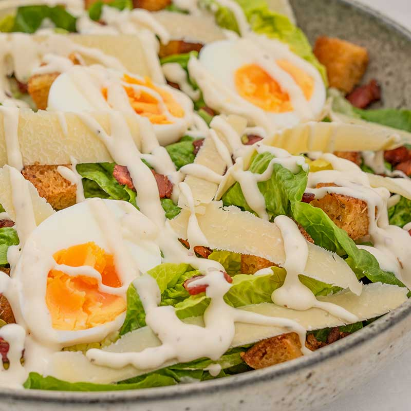 Best EVER Keto Caesar Salad Recipe - With Low Carb Croutons!