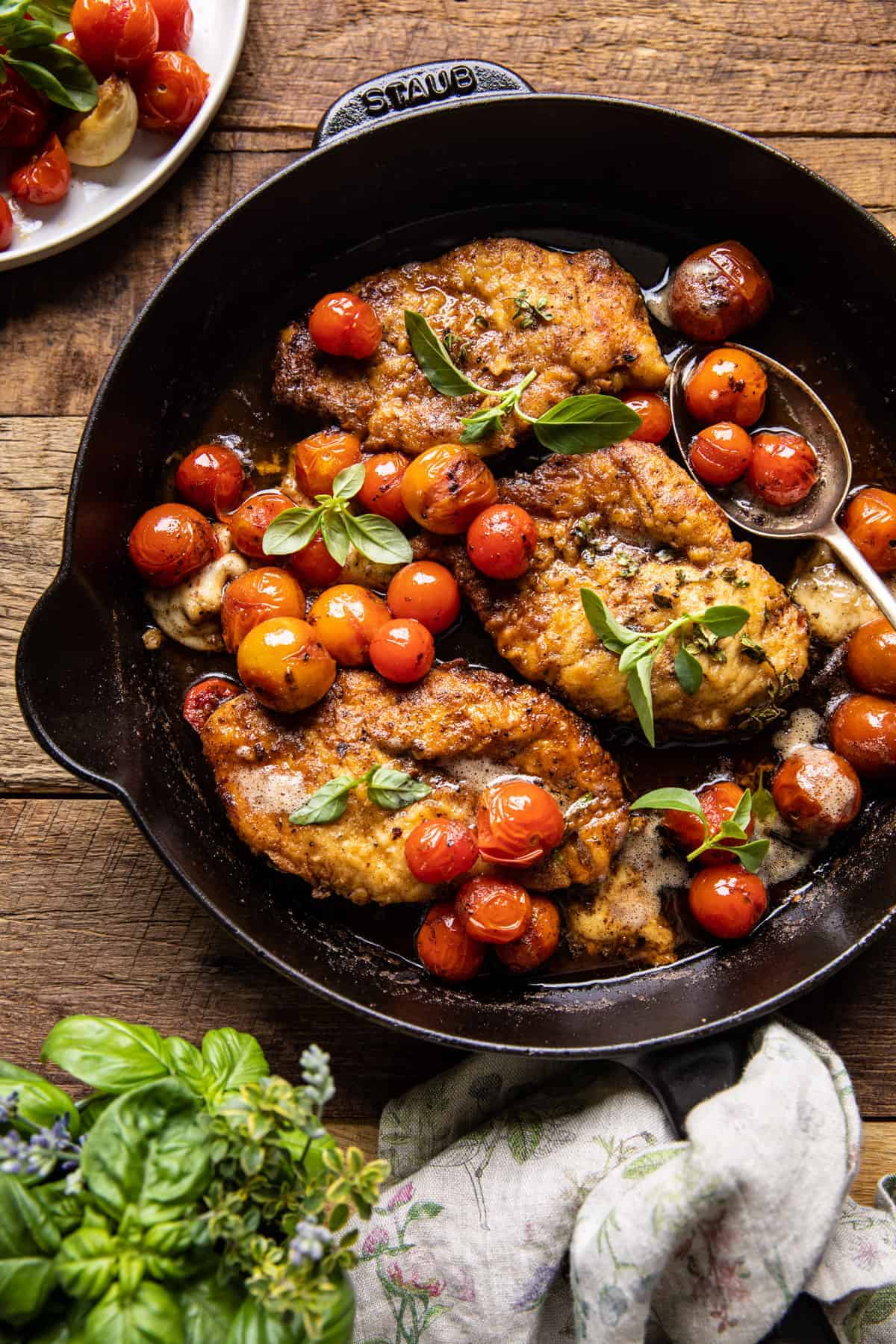 20 Minute Florentine Butter Chicken with Burst Cherry Tomatoes